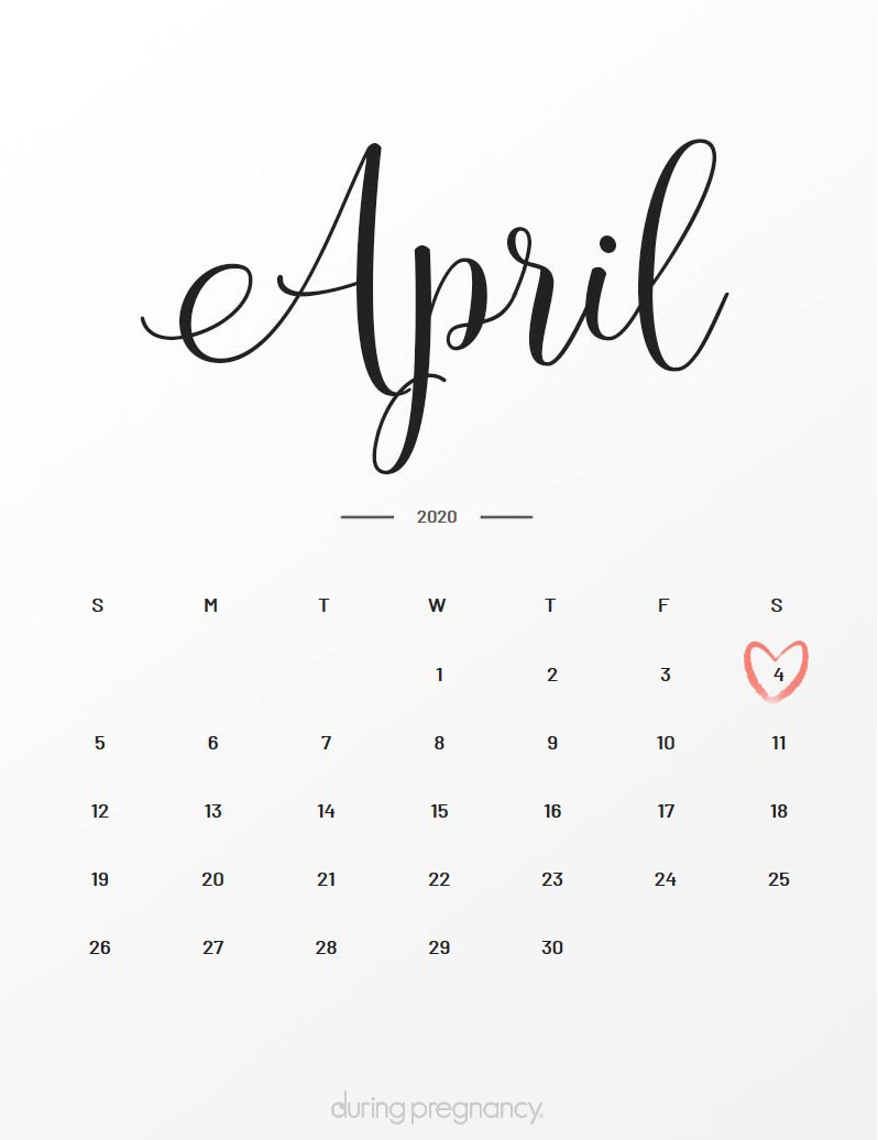 Due Date: April 4, 2020 | During Pregnancy