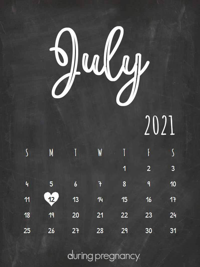 How Far Along Am I if My Due Date Is July 12, 2021