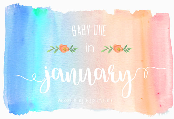 Due Date in January - Announcement Image